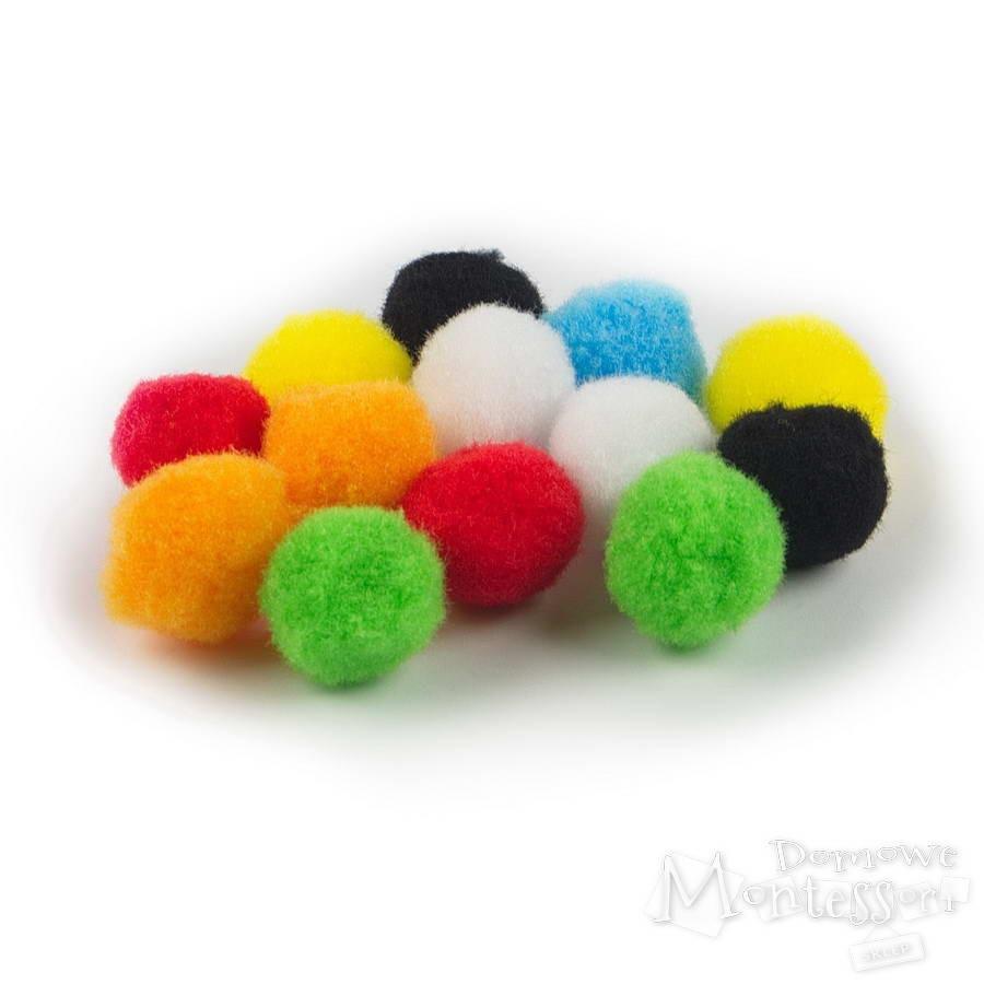 Kolorowe Pompony Dekoracyjne Do Prac Plastycznych I Zabaw Sensorycznych
