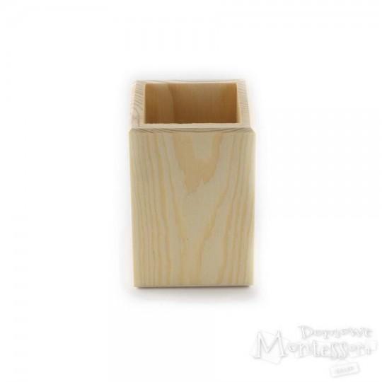 Kubek drewniany kwadratowy