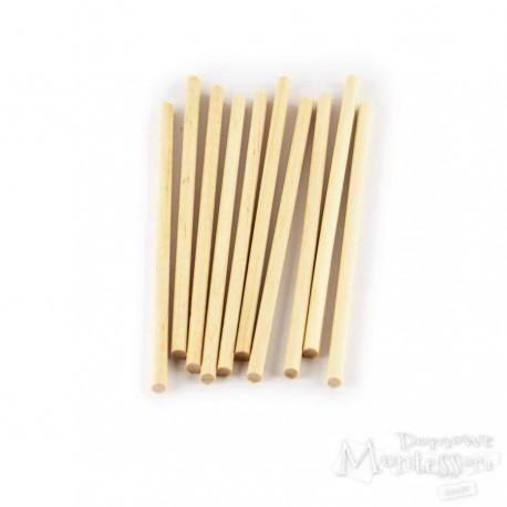 Drewniane patyczki 10 sztuk