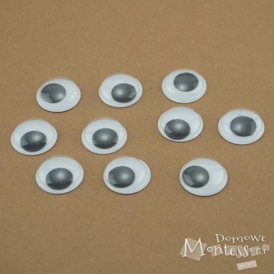 Oczy samoprzylepne 18 mm - 10 sztuk