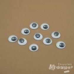 Oczy samoprzylepne 12 mm - 10 sztuk
