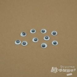 Oczy samoprzylepne 8 mm - 10 sztuk