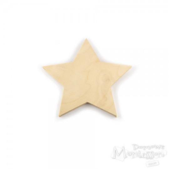 Gwiazda ze sklejki średnia