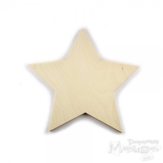 Gwiazda ze sklejki duża