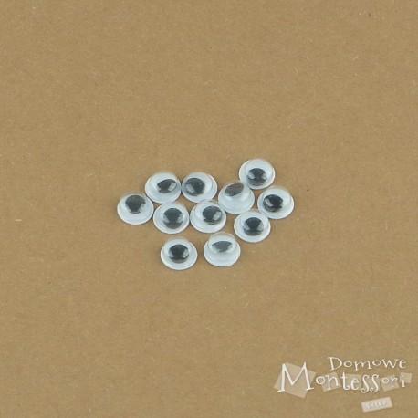 Oczy samoprzylepne 6 mm - 10 sztuk