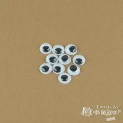 Oczy samoprzylepne 10 mm - 10 sztuk