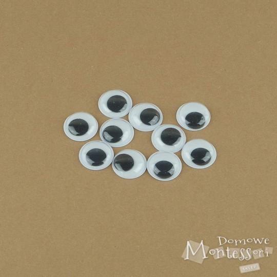 Oczy samoprzylepne 15 mm - 10 sztuk