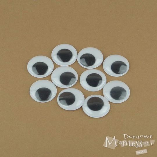 Oczy samoprzylepne 25 mm - 10 sztuk