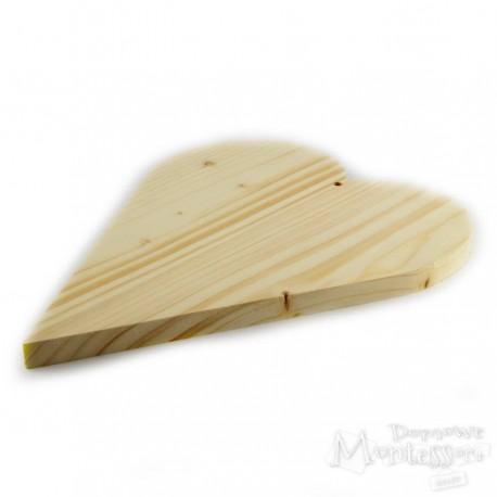 Serce drewniane bardzo duże