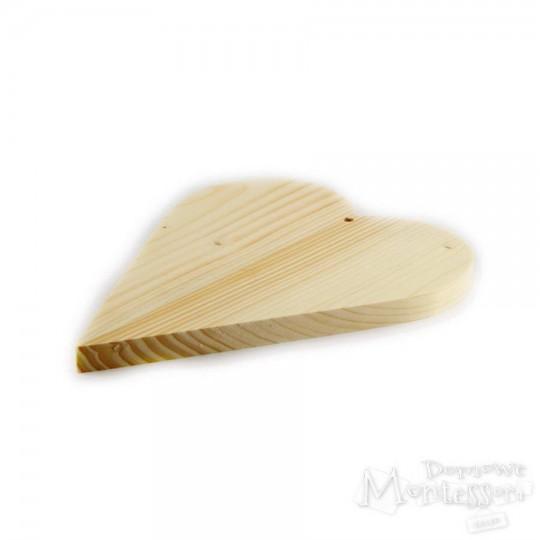 Serce drewniane duże