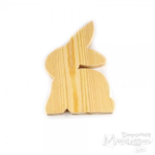 Drewniany królik duży