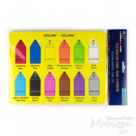 Puzzle edukacyjne z pianki - kolory