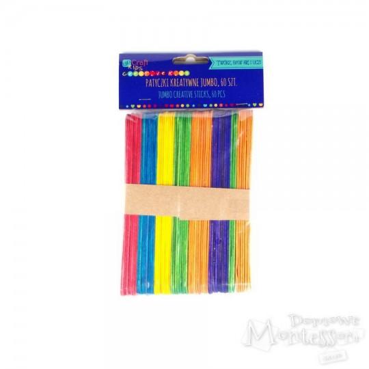 Patyczki kreatywne kolorowe jumbo