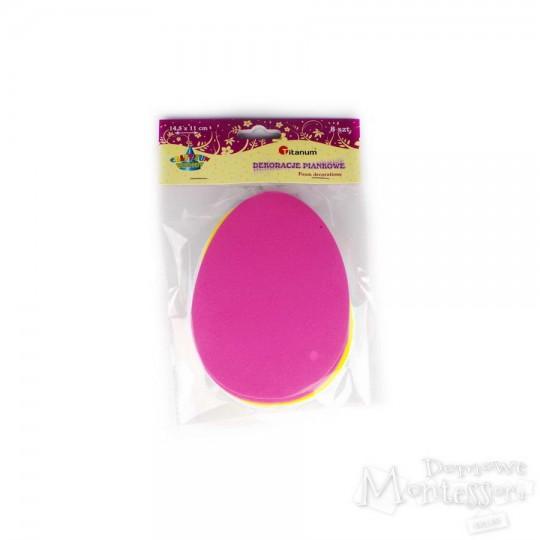 Dekoracje piankowe - jajko
