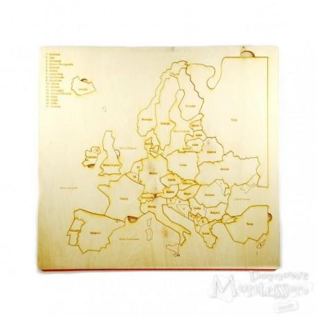 Puzzle - mapa Europy