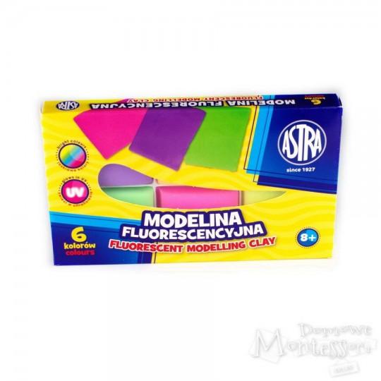 Modelina fluorescencyjna Astra 6 kolorów