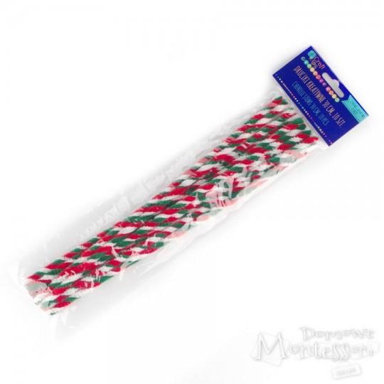 Druciki kreatywne 30 cm trójkolorowe 10 sztuk