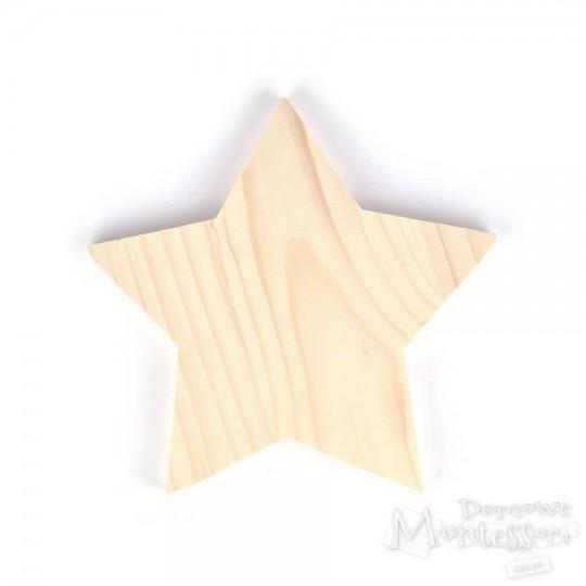 Gwiazda drewniana duża