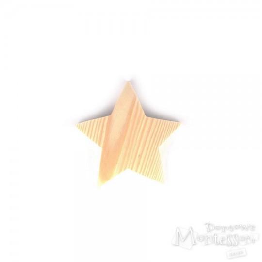 Gwiazda drewniana mała