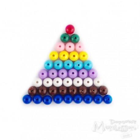 Zestaw koralików - kolorowe schodki Montessori