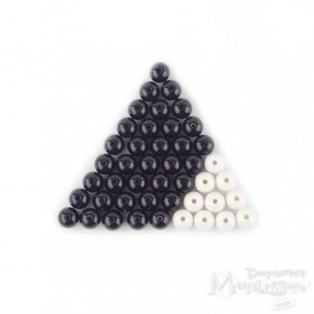 Zestaw koralików - czarno-białe schodki Montessori