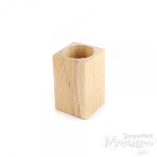 Kubek drewniany kwadratowy 2