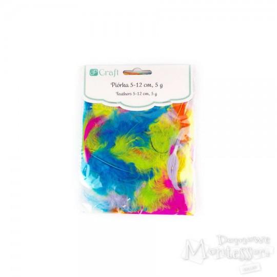 Piórka dpCraft 5-12 cm, 5 g, mix kolorów