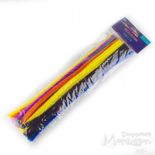 Druciki kreatywne 30 cm mix kolorów 25 sztuk