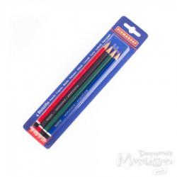 Ołówki 4 sztuki blister