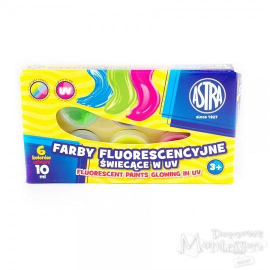 Farby fluorescencyjne Astra 6 kolorów, 10 ml