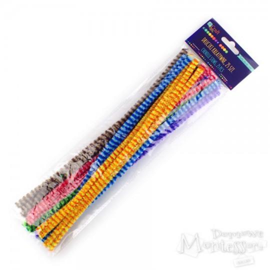 Druciki kreatywne 30 cm paski 25 sztuk