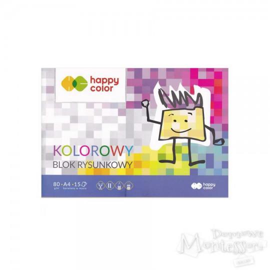 Blok rysunkowy kolorowy A4 80 g/m2