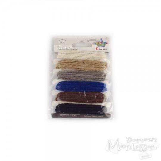 Włóczka zestaw 6 kolorów - wariant ciemny