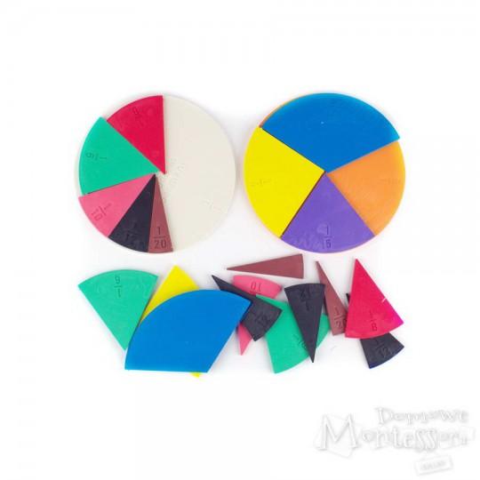 Kolorowe koła - ułamki