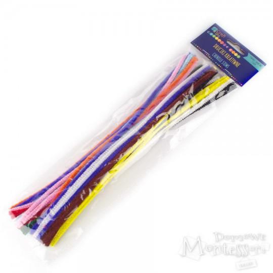 Druciki kreatywne 30 cm mix kolorów 40 sztuk