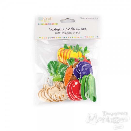 Naklejki piankowe - warzywa