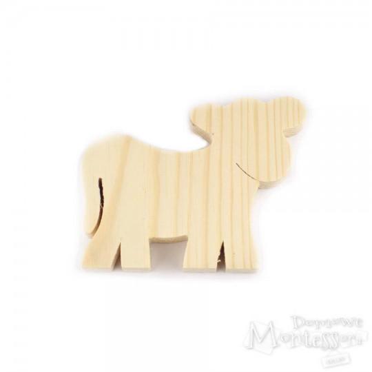 Drewniana krowa