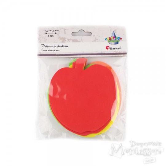 Dekoracje piankowe - jabłko