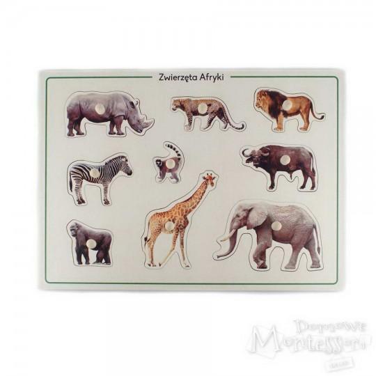 Układanka Zwierzęta Afryki
